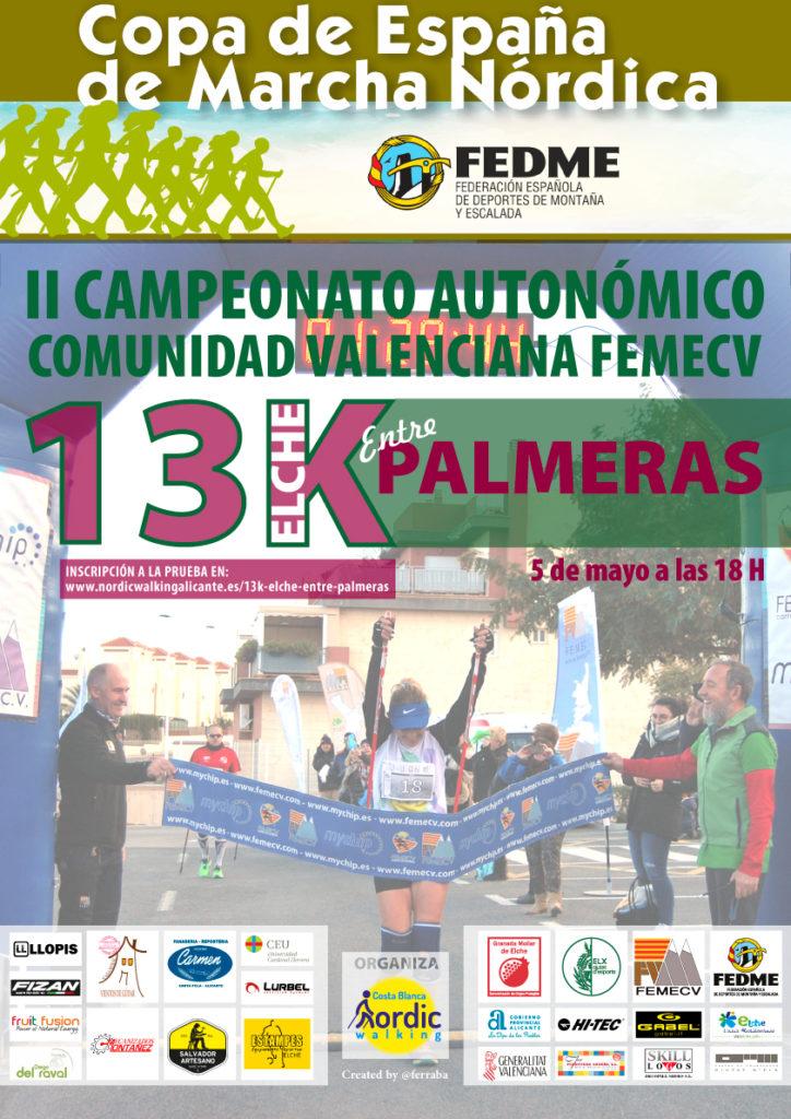 Primer Campeonato de España de Marcha Nórdica en Elche