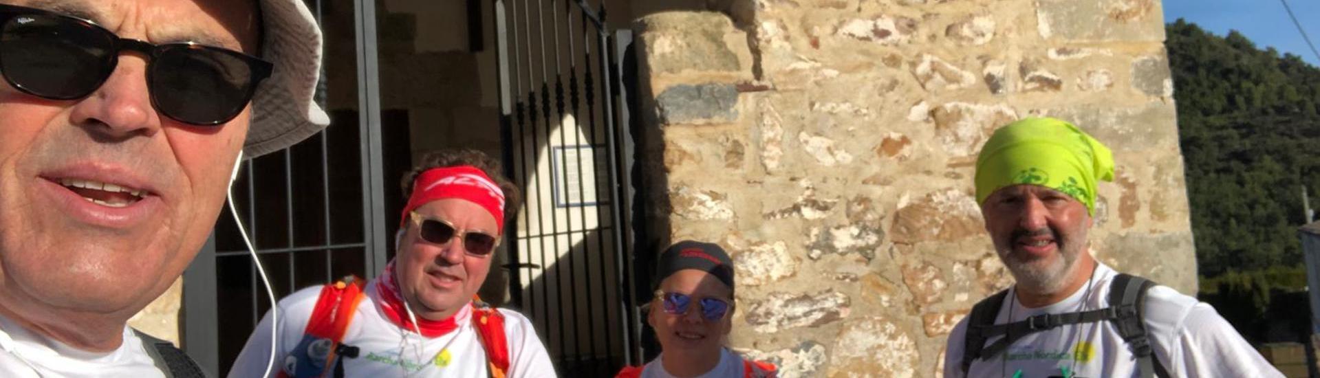 Ruta de Marcha Nórdica en Penáguila y visita al Jardín de Santos
